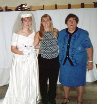 Mom, Tina (My Older Sister) and Me.
